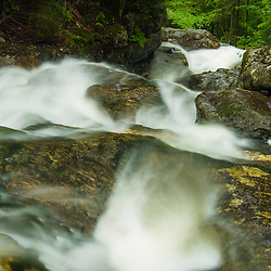Beaver Brook Cascades along the Appalachian Trail in New Hampshire's White Mountains.