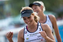 Simona Fabjan and in background Andreja Vodeb at tournament for Slovenian national championship - Drzavno prvenstvo Kranj 2013 on July 26, 2013, in Kranj, Slovenia. (Photo by Matic Klansek Velej / Sportida)