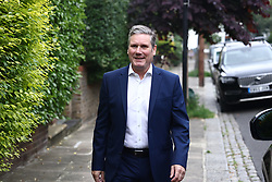 © Licensed to London News Pictures. 02/07/2021. London, UK. Labour Party leader Sir KEIR STARMER leaves his London home on the morning Labour won the Batley and Spen by-election. Labour narrowly held the seat which was called when previous Member of Parliament, Tracy Brabin, was elected mayor of west Yorkshire. Photo credit: Ben Cawthra/LNP