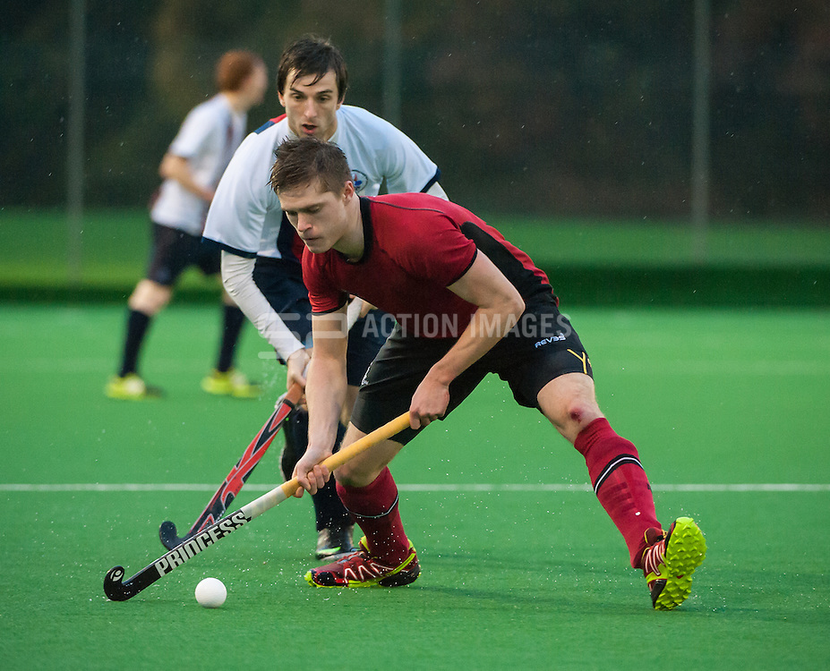 Southgate's Adam Miller. Southgate v Brooklands MU - Now: Pensions Men's Hockey League - Premier Division, Trent Park, London, UK on 23 November 2014. Photo: Simon Parker
