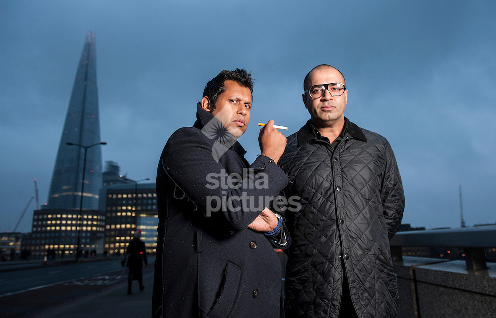 Picture by Daniel Hambury/Stella Pictures Ltd +44 7813 022858<br /> 18/11/2013<br /> Taz and Umer (left) Sheikh, founders of Gamucci e-cigarettes picture at their central London office.