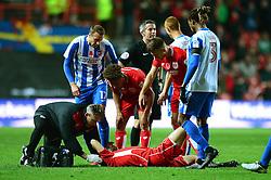 Gary O'Neil of Bristol City receives treatment - Mandatory by-line: Dougie Allward/JMP - 05/11/2016 - FOOTBALL - Ashton Gate - Bristol, England - Bristol City v Brighton and Hove Albion - Sky Bet Championship