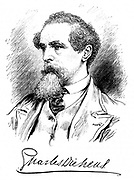 Charles Dickens (1812-70) English novelist and journalist. Engraving.