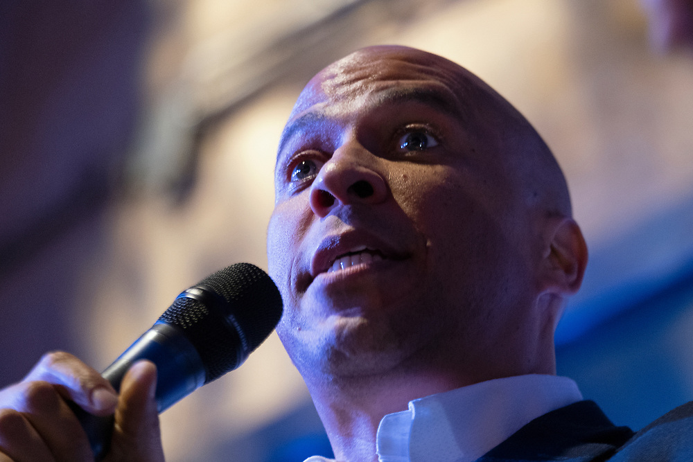 Democratic Presidential Candidate Cory Booker (D-NJ) appears Aug. 7, 2019, during a Philadelphia Rise Event at The Fillmore's Ajax Hall in Philadelphia, Pennsylvania. (Photo by Matt Smith)