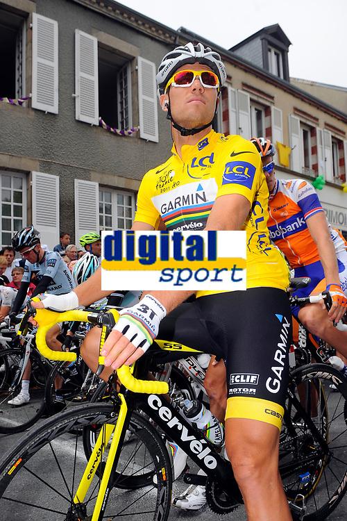 CYCLING - TOUR DE FRANCE 2011 - STAGE 8 - Aigurande > Super-Besse Sancy (189 km) - 07/07/2011 - PHOTO : JULIEN CROSNIER / DPPI - THOR HUSHOVD (NOR) / TEAM GARMIN - CERVELO