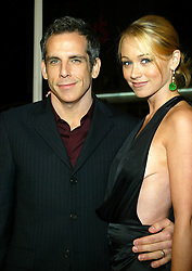 Feb 26, 2004; Westwood, CA, USA; Actor BEN STILLER and wife Actress CHRISTINE TAYLOR at the world premiere of 'Starsky & Hutch' held at the Mann Village Theatre..  (Credit Image: Rena Durham/ZUMAPRESS.com)