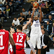 Anadolu Efes's Oliver Lafayette (R) during their Turkish Basketball League match Anadolu Efes between Erdemir at Arena in Istanbul, Turkey, Wednesday, January 28, 2012. Photo by TURKPIX