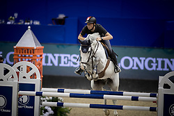Fuchs Martin, SUI, Clooney<br /> Training session<br /> Longines FEI World Cup Jumping Final, Omaha 2017 <br /> © Hippo Foto - Jon Stroud<br /> 29/03/2017