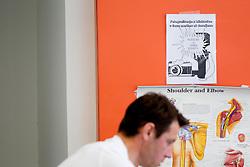 Marko Vozelj na testiranju rekreativnih kolesarjev na Fakulteti za sport v sklopu projekta TSmedia oz. portala Planet siol.net, Hervisa in KK Adria Mobil, ki pripravljajo ekipo za kronometer na kolesarski dirki Po Sloveniji 2012, on April 26, 2012, Fizioloski laboratorij, Fakulteta za sport, Ljubljana, Slovenija. (Photo by Vid Ponikvar / Sportida.com)