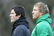 The Wales rugby team press conference and team training on 18/11/2008 ahead of their autumn international against New Zealand.  James Hook (left) and Andy Powell. pic by Andrew Orchard ©  Andrew Orchard sports photography