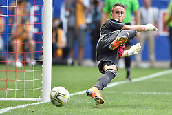 July 28, 2018 - Harrison, New Jersey, U.S - SL Benfica goalkeeper ODISSEAS VLACHODIMOS (99) watches the winning goal go into the net during the International Champions Cup match against Juventus at Red Bull Arena. Juventus won 4-2 on penalty kicks. (Credit Image: © Brooks Von Arx via ZUMA Wire)