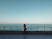 Camogli, Liguria, terrace overlooking the sea