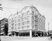 9544-01. Seward Hotel. SW 10th and Alder on SW corner. Presently the Governor Hotel. Portland, Oregon