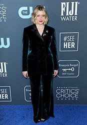 Greta Gerwig at the 25th Annual Critics' Choice Awards held at the Barker Hangar in Santa Monica, USA on January 12, 2020.