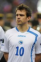 FOOTBALL - UEFA EURO 2012 - QUALIFYING - GROUP D - FRANCE v BOSNIA - 11/10/2011 - PHOTO GUY JEFFROY / DPPI - ZVJEZDAN MISIMOVIC (BOS)
