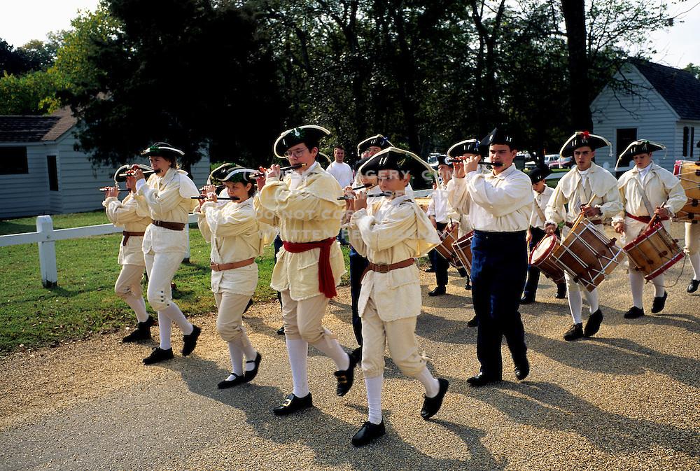 Image of the Yorktown Victory Reenactment Parade in Yorktown, Virginia, east coast by Randy Wells