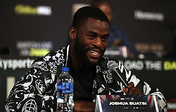Joshua Buatsi during the undercard press conference at Madison Square Garden, New York.
