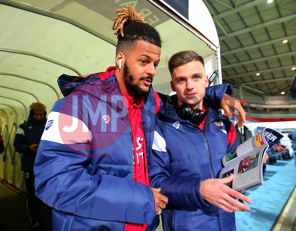 Lois Diony and Jamie Paterson of Bristol City arrive at the Macron Stadium ahead of the fixture with Bolton Wanderers - Mandatory by-line: Robbie Stephenson/JMP - 02/02/2018 - FOOTBALL - Macron Stadium - Bolton, England - Bolton Wanderers v Bristol City - Sky Bet Championship