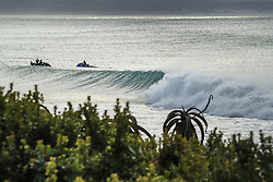 July 20, 2017 - Sunrise revealed a slightly ruffled but groomed overhead Supertubes lineup good enought to call on finals day for the Corona Open J-Bay...Corona Open J-Bay, Eastern Cape, South Africa - 20 Jul 2017. (Credit Image: © Rex Shutterstock via ZUMA Press)