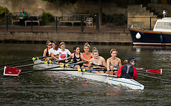 © Licensed to London News Pictures. 09/08/2021. Henley-on-Thames, UK. Rowers training ahead of the the Henley Royal Regatta which starts on Wednesday, set on the River Thames by the town of Henley-on-Thames in Oxfordshire, England. Established in 1839, the five day international rowing event, raced over a course of 2,112 meters (1 mile 550 yards), is considered an important part of the English social season. Photo credit: Ben Cawthra/LNP