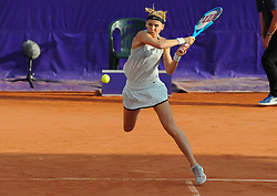May 23, 2018 - Strasbourg, France - LUCIE SAFAROVA of Czech Republic smashes a backhand during  Internationaux de tennis de Strasbourg. (Credit Image: © Panoramic via ZUMA Press)