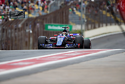 November 10, 2017 - Sao Paulo, Sao Paulo, Brazil - 28 BRENDON HARTLEY (NZL) of Scuderia Toro Rosso, during the free training day for the Formula One Grand Prix of Brazil at Interlagos circuit, in Sao Paulo, Brazil. The grand prix will be celebrated next Sunday, November 12. (Credit Image: © Paulo Lopes via ZUMA Wire)