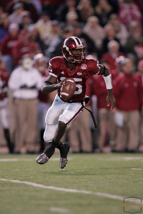 17 November 2007: Indiana quarterback Kellen Lewis (15) as the Indiana Hoosiers played the Purude Boilermakers in a college football game in Bloomington, Ind. Indiana won 27-24.