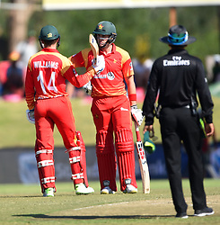 Cape Town-181006- Zimbabwean  batsman Sean Williams celebrate his 50 runs  against South Africa in the 3rd ODI match at Boland Park cricket stadium. .Photographer:Phando Jikelo/African News Agency(ANA)