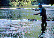PA landscapes Fishing Men Trout Fishing in Yellow Breeches Creek, Cumberland Co., PA