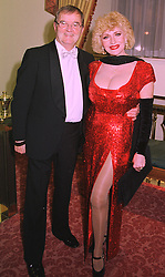 MR LEN WADY and his wife comedianne FAITH BROWN, at a ball in London on 29th January 1998.MEY 11
