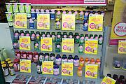 Health products shop window display