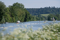© Licensed to London News Pictures. 15/06/2021. Henley-on-Thames, UK. Boats on the River Thames at Henley-on-Thames in Oxfordshire on a hot summer's morning. Photo credit: Ben Cawthra/LNP