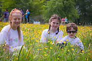 NO FEE PICTURES<br /> 28/5/16 Michaela Delany, age 16, who is waiting for her second transplant with Alison Traynor, age 9 and her brother Oscar, age 4 at the Irish Kidney Association's Run For Life in support of Organ Donation at Corkagh Park in Dublin. Pictures:Arthur Carron