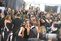 January 27, 2019 - Los Angeles, California, U.S - MARIA DOLORES DIEGUEZ AND JOSEPH FIENNES during silver carpet arrivals for the 25th Annual Screen Actors Guild Awards, held at The Shrine Expo Hall. (Credit Image: © Kevin Sullivan via ZUMA Wire)