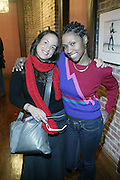l to r: Noelle Theard and Shantrell P.Lewis at Artist talk of ' Shoot-Out: Lonely Crusade..An Homage to Jamel Shabazz ' held at The George and Leah McKenna African American Museum of Art on December 12, 2008 in New Orleans, Louisana