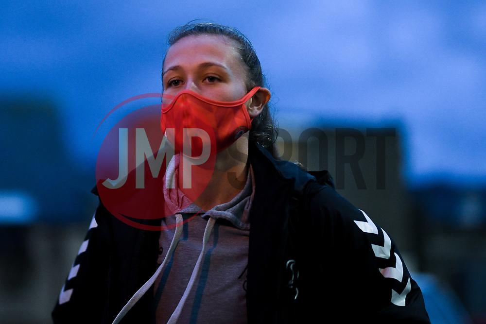 Charlie Wellings of Bristol City Women arrives at Twerton Park prior to kick off - Mandatory by-line: Ryan Hiscott/JMP - 14/11/2020 - FOOTBALL - Twerton Park - Bath, England - Bristol City Women v Tottenham Hotspur Women - Barclays FA Women's Super League