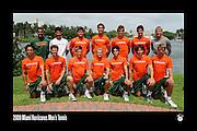 2009 Miami Hurricanes Men's Tennis Team Photo