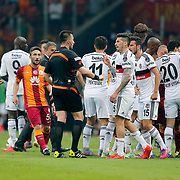 Referee's Huseyin Gocek during their Turkish Super League derby match Galatasaray between Besiktas at the AliSamiYen Spor Kompleksi TT Arena at Seyrantepe in Istanbul Turkey on Sunday, 24 May 2015. Photo by Aykut AKICI/TURKPIX