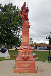 McLean County Illinois monuments and landmarks<br /> <br /> Statue of Wausaneta, a Native American, located on the square in LeRoy Illinois