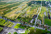 "Nederland, Overijssel, Gemeente Steenwijkerland, 07-05-2015; Ossenzijl, gelegen aan de Kalenbergergracht in het natuurgebied de Weerribben.<br /> Nature reserve ""Weerribben', the largest <br /> serried fenland of Europe.<br /> luchtfoto (toeslag op standard tarieven);<br /> aerial photo (additional fee required);<br /> copyright foto/photo Siebe Swart"