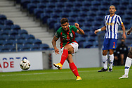 Rodrigo Pinho of Maritimo shoots to score his goal during the Portuguese League (Liga NOS) match between FC Porto and Maritimo at Estadio do Dragao, Porto, Portugal on 3 October 2020.