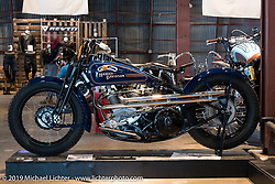 """Matt Olsen's """"One of One"""" (owned by Mike Detwiler) completely handbuilt custom Harley-Davidson on Sunday at the Handbuilt Motorcycle Show. Austin, TX. April 12, 2015.  Photography ©2015 Michael Lichter."""