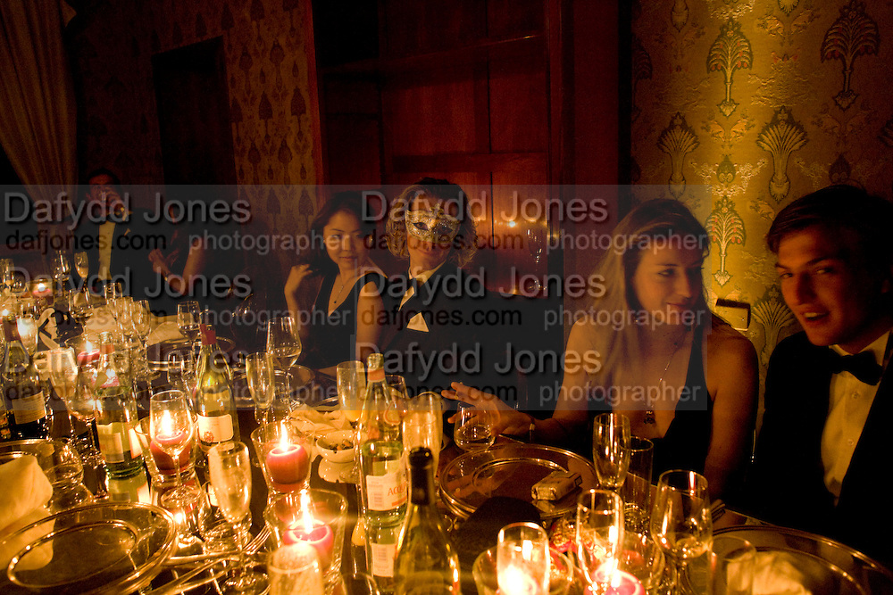 JENNIFER LEE; RUDI MOEN. Francesca Bortolotto Possati, Alessandro and Olimpia host Carnevale 2009. Venetian Red Passion. Palazzo Mocenigo. Venice. February 14 2009.  *** Local Caption *** -DO NOT ARCHIVE -Copyright Photograph by Dafydd Jones. 248 Clapham Rd. London SW9 0PZ. Tel 0207 820 0771. www.dafjones.com<br /> JENNIFER LEE; RUDI MOEN. Francesca Bortolotto Possati, Alessandro and Olimpia host Carnevale 2009. Venetian Red Passion. Palazzo Mocenigo. Venice. February 14 2009.