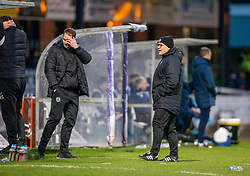 Partick Thistle's manager Ian McCall. Dundee 2 v 0 Partick Thistle, Scottish Championship game played 8/2/2020 at Dundee stadium Dens Park.