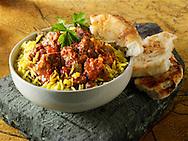 Lamb Bhuna curry Indian food stock pictures, photos fotos & images