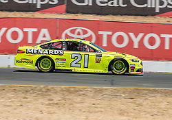 June 22, 2018 - Sonoma, CA, U.S. - SONOMA, CA - JUNE 22: Paul Menard, driving the #(21) Ford for Wood Brothers Racing going through the paces on Friday, June 22, 2018 at the Toyota/Save Mart 350 Practice day at Sonoma Raceway, Sonoma, CA (Photo by Douglas Stringer/Icon Sportswire) (Credit Image: © Douglas Stringer/Icon SMI via ZUMA Press)