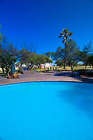 Swimming pool, Namutoni Resort, Etosha National Park, Namibia