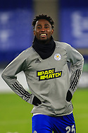 Single player portrait half body Wilfred Ndidi of Leicester City (25) during the Europa League match between Leicester City and AEK Athens at the King Power Stadium, Leicester, England on 10 December 2020.