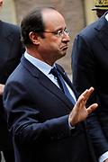 """François Hollande brengt een officieel bezoek aan Nederland. Hollande is in Nederland om de handelsbetrekkingen aan te halen.<br /> <br /> François Hollande brings an official visit to the Netherlands. Hollande is in the Netherlands for """"better""""Trading relations<br /> <br /> Op de foto/ On the photo:  De Franse president François Hollande komt aan bij de Tweede Kamer<br /> <br /> French President Francois Hollande arrives at the House of Parlement"""
