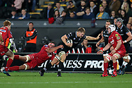 Olly Cracknell of the Ospreys ©. Guinness Pro14 rugby match, Ospreys v Scarlets at the Liberty Stadium in Swansea, South Wales on Saturday 7th October 2017.<br /> pic by Andrew Orchard, Andrew Orchard sports photography.